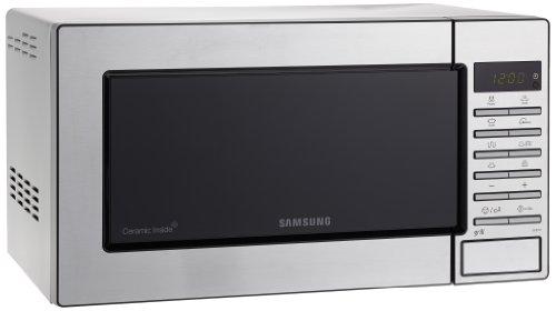 SAMSUNG GE87M-X/Xec - Microondas con Grill, 800 W/ 1100 W, 23 Litros, Color Gris/ Acero Inoxidable