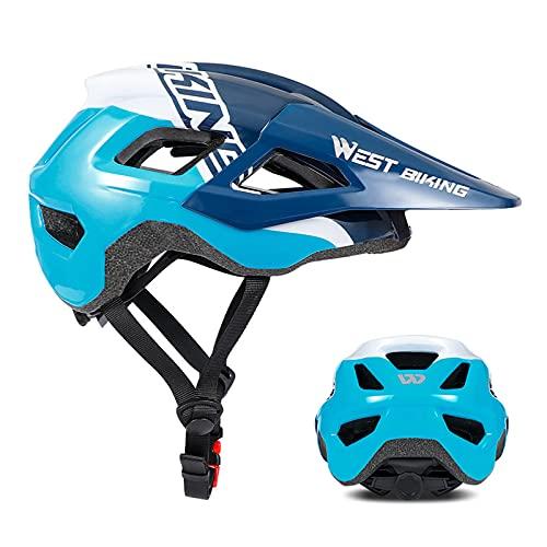 Zeroall Casco de Bicicleta Adulto Súper Ligero 54-60cm Tamaño Ajustable MTB Casco de Ciclo Cascos de Ciclismo para Bicicleta Patineta Bicicletas Eléctricas(Azul)