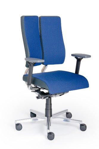 Rohde und Grahl Duo-Back Balance® Ergonomischer Bürodrehstuhl Bezug blau, mit Armlehnen