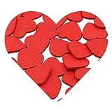 DEKOWEAR Coeur auto-adhésif avec de la colle point 50 pièces pour la Décoration en...