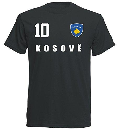 Kosovo WM 2018 T-Shirt Trikot - schwarz ALL-10 - S M L XL XXL (L)