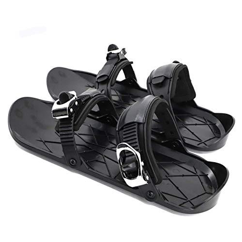 Bulawlly Mini-Skates Kurze Skateboards Leicht Zu Tragen, Tragbare Dauerhafte Schneeschuhe, Skifahren Mit Ski-Schlitten Snowboard-Werkzeuge, Geeignet Für Männer Und...