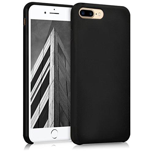 kwmobile Hülle kompatibel mit Apple iPhone 7 Plus / 8 Plus - Handyhülle gummiert - Handy Hülle in Schwarz