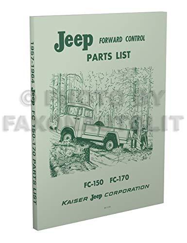 1957-1964 Jeep FC 150-170 Parts Book Reprint