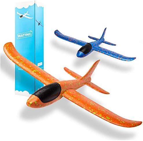 WATINC 2pcs 13.5inch Airplane, Manual Throwing,...