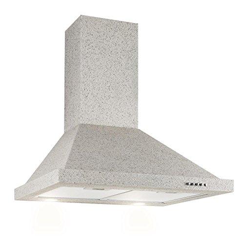 Klarstein Steinklar Cappa Aspirante Da Cucina a Parete (60 cm, 610 m3/h, 3 livelli di potenza, CLASSE A, illuminazione attivabile) Effetto pietra
