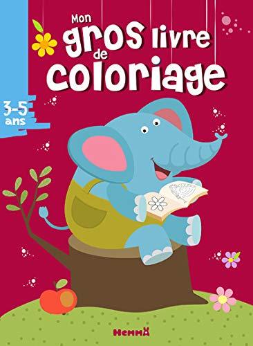 Mon gros livre de coloriage (3-5 ans) (Eléphant)