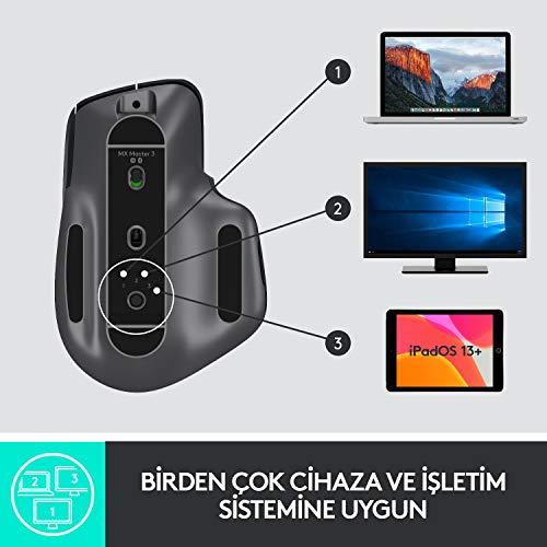 Logitech MX Master 3 Advanced Maus – Schwarz – Business Edition [Dual Connect, 2,4GHz & Bluetooth] - 9