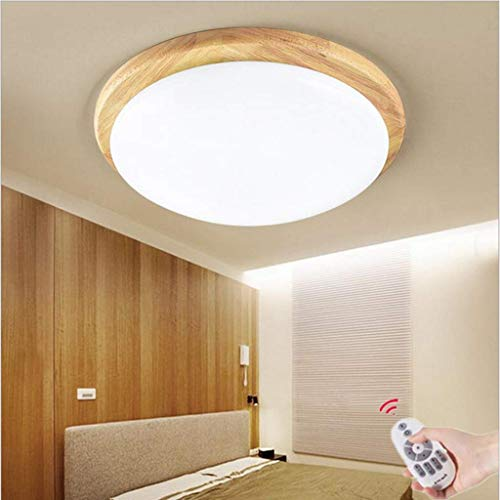 Living Equipment Ceiling Lights 36WLED Round Creative Simple Individual Ceiling Lamp Continuous Dimming Nordic with Remote Control And Push Button Operation Decorative Ceiling Chandelier From Acryl