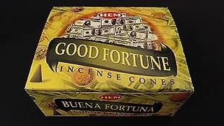 GOOD FORTUNE 12 Boxes of 10 = 120 HEM Incense Cones Bulk Case Retail Display