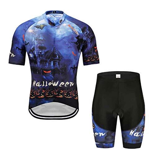 Yudong 2 Piezas Maillot Ciclismo Hombre Ciclismo Traje De Halloween 3D Printed...
