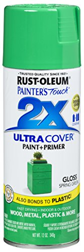 Rust-Oleum 314751 Painter's Touch 2X Ultra Cover, 12 Oz, Gloss Spring Green