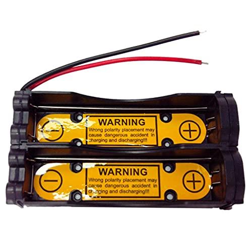 MYBOON 2S1P 18650 Soporte de Caja de batería Caja de Almacenamiento de batería DIY en Serie Caja de baterías de plástico con Base de batería de Plomo de Alambre