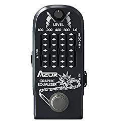 top rated Guitar Pedal AZOR 6 Band Graphic Equalizer Effect Pedal Graphic Guitar Equalizer Distortion Effect… 2021