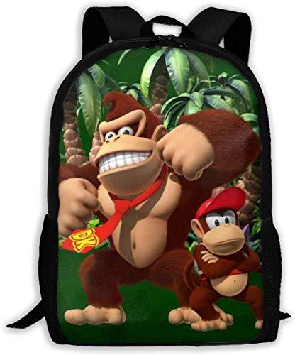 Children's School Bags Don-Key K-ong Country 3D Printing Backpacks Kids Daypack For...