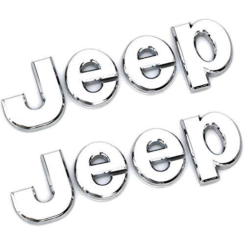 XCBW Adesivo Emblema Logo Anteriore Auto per J-eep Wrangler Tj JK JL Grand Cherokee Commander Renegade Liberty Compass Rimontare Gli Accessori,Argento