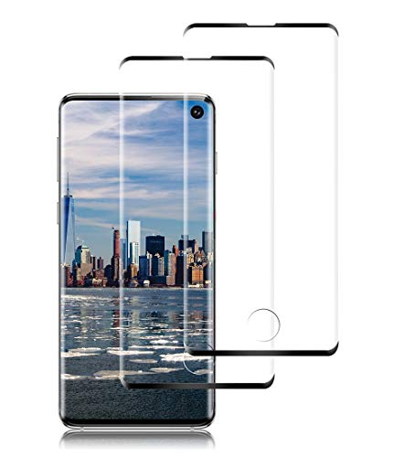 ROYEO Screen Protector for Galaxy S10, [2 Pack] Premium 3D Tempered Glass [9H Hardness] [Anti-Bubble] [Fingerprints Sensor Compatible] for Samsung Galaxy S10