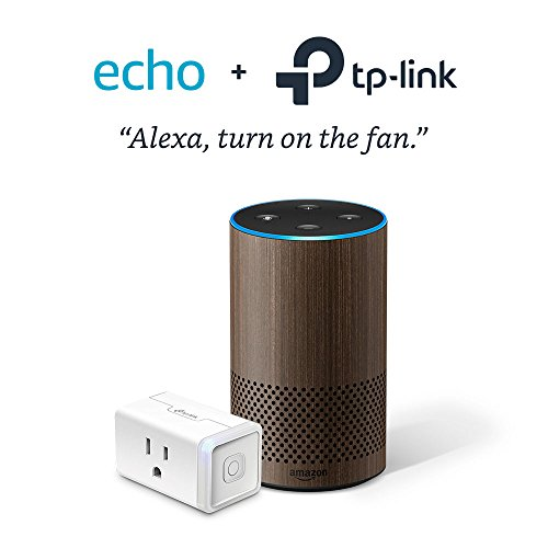 Echo (2nd Generation) - Limited Edition Walnut with TP-Link Smart Plug Mini