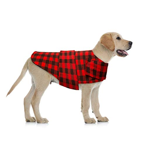 BeMiracle Plaid Dog Jacket Calming Vest Wrap Anxiety Coat, Pet Stress Relief Shirt for Small Medium Large Dogs