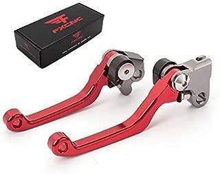 FXCNC Racing CNC Aluminum Dirt Bike Pivot Brake Clutch Lever Set for Honda CRF 150F 150 230F 230 CRF150F CRF230F 2003-2018, CRF250F 2019 Red
