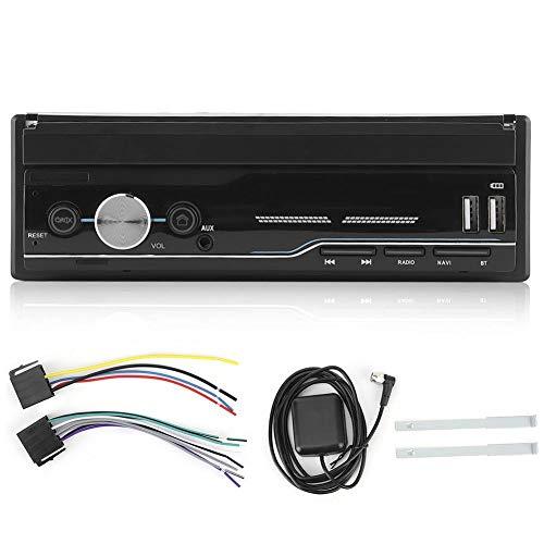 Navegación GPS, reproductor de música Bluetooth para navegación en el coche, navegación GPS retráctil de 7 pulgadas Receptor de radio Bluetooth Reproductor estéreo de coche MP5 / MP3