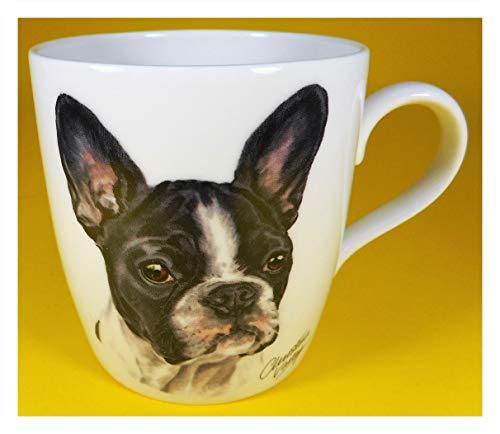 MUG GG C23 - Taza de porcelana, diseño de perro bulldog francés
