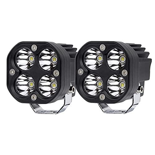 HSTG Barra de luz del Punto LED, lámpara de Niebla LED Blanca 40W 3 Pulgadas, luz de Trabajo Impermeable de Cubo, para automóviles, Pastillas, Camiones, SUV, Motocicletas, Botes, etc, Paquete de 2