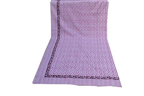 Colcha de algodón de tamaño King de estilo bohemio Kantha Kantha Kantha para cama de punto de cama, colcha hippie reversible, hecha a mano