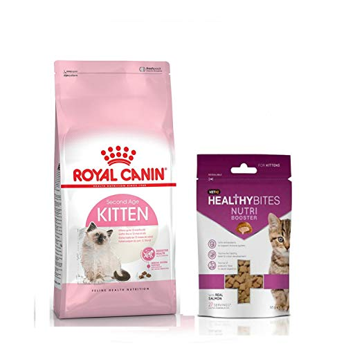 Royal Canin SECOND AGE Kitten Dry food 400 gr. and Kitten treats Nutry Booster