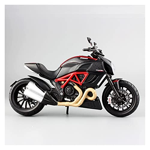 Boutique 1/12 For Ducati Diavel Cruiser Superbike Diecast Model Motorcycle Race Bike Miniature Metal Collection Toy Boy