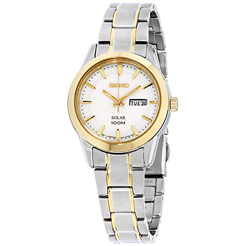 Seiko Solar Damen-Uhr Edelstahl mit Metallband SUT162P1