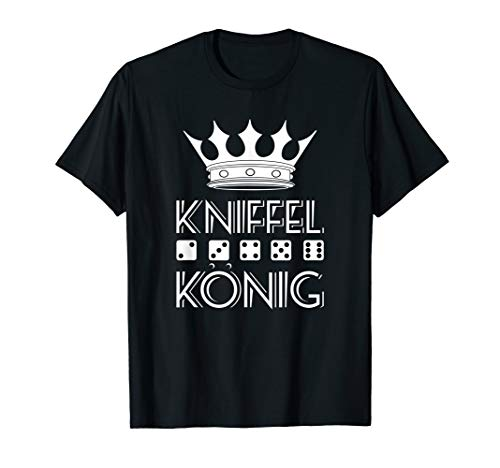 Kniffel König Würfel Kniffeln Shirt T-Shirt