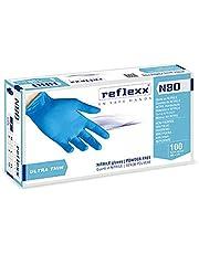Reflexx N80B – 100 wegwerphandschoenen van nitril, poedervrij en latexvrij, 3,0 g, veelzijdig bruikbaar, geschikt voor levensmiddelen, DPI voor ziekte- en tandgebied, 100 stuks