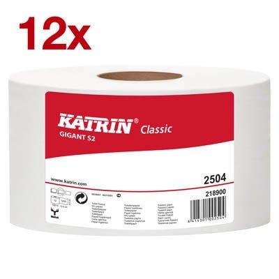 12 x KATRIN Jumbo-Toilettenpapier Gigant S2 2-lagig