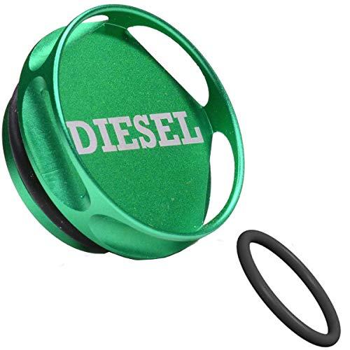 Magnetische Diesel Fuel Cap Accessoire compatibel met Do-dge RAM TRUCK 1500 2500 3500 (2013-2019) met 6.7 CUM-MINS EcoDiesel, Nieuw Easy Grip Design, Inclusief 2 O-Ringen