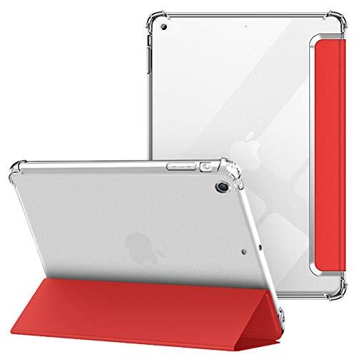 VAGHVEO Custodia per iPad Mini 1 2 3 7,9 Pollici, Flessibile Silicone TPU Trasparente Cover Retro, Sottile Leggero Auto Svegliati Sonno Case Antiurto Resistente per Apple iPad Mini 1 2 3 Tablet, Rosso