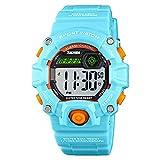 Reloj Digital para niños y niñas, 50 m, Resistente al Agua, cronómetro, Reloj de Pulsera de...