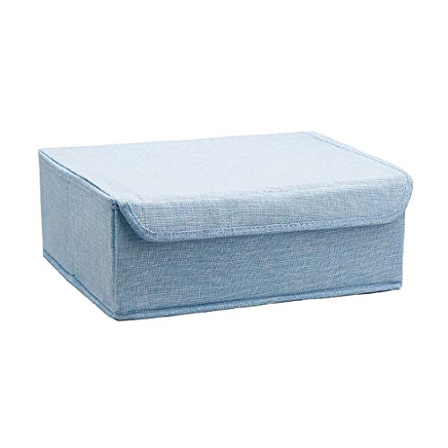 RFJJAL Storage Bag Underwear Organiser for Best Bedroom Storage Box Linen Storage Container Under Bed & Drawer for Adult & Kids Clothing, Socks, Shoes, Ties, Bras (Color : Blue)