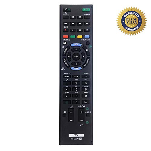 MYHGRC Nuevo Control Remoto de reemplazo de TV RM-ED047 para Sony Bravia Control Remoto Adecuado para Sony Smart TV LCD/LED - No Requiere configuración Control Remoto Universal