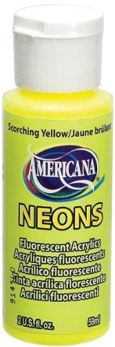 Deco Art amerciana Neon-, Sengende Acryl Gelb