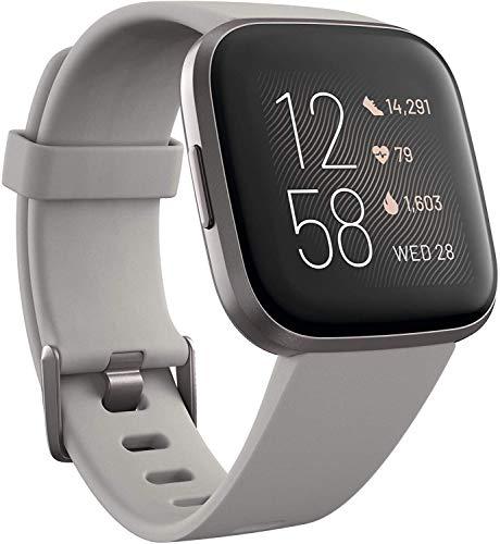 Fitbit Versa 2 Alexa搭載 スマートウォッチ Stone/Mist Grey L/S サイズ [日本正規品] FB507GYSR-FRCJK