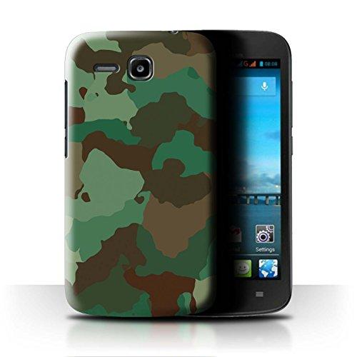 Stuff4 Hülle/Hülle für Huawei Ascend Y600 / Grüner Wald Angriff Muster/Militär Camouflage Tarnung Kollektion