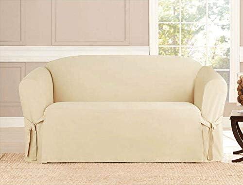 Microsuede Direct sale of manufacturer Furniture Slipcover Protector Trust Beige Loveseat