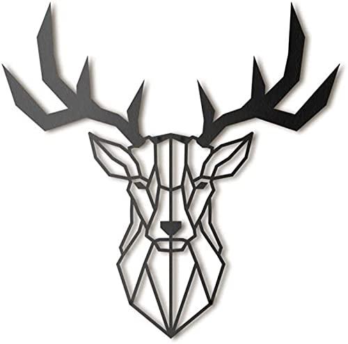 Ylight Tête de cerf en Métal, décoration Murale en métal, Décoration Minimalist et Géometrique, Parfait pour Salon, Bureau, Chambre à Coucher