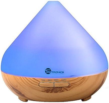 Aroma Diffuser 300ml TaoTronics Luftbefeuchter Oil Düfte Humidifier Holzmaserung LED mit 7 Farben für Yoga Salon Spa Wohn-, Schlaf-, Bade- oder Kinderzimmer Hotel