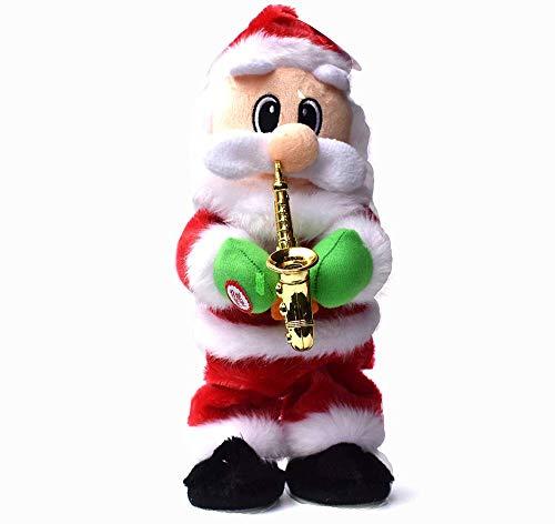 Detazhi Papá Noel Papá Noel Twisted Hip Christmas Santa Claus Juguete con el Canto Dancing Electric Christmas Doll Desk Refnamentos Regalos de Fiesta for niños