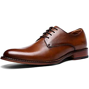 [フォクスセンス] ビジネスシューズ 本革 革靴 紳士靴 メンズ ドレスシューズ 本革 プレーントゥ 外羽根 ブラウン 27.5cm DS216-12