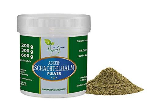 VITAIDEAL VEGAN® Ackerschachtelhalm Pulver (Zinnkraut) 100g inklusive Messlöffel, rein natürlich ohne Zusatzstoffe.