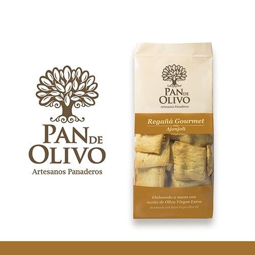 Regañá gourmet, PAN DE OLIVO, producto artesanal, elaborado a mano con aceite de oliva virgen extra. (PACK 4 Unidades). Varios sabores. Envío GRATIS 24 h. (Ajonjolí)