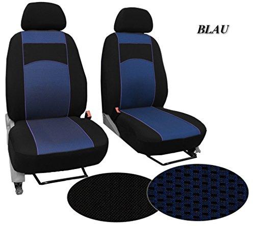 Vordersitzbezüge - Autositzbezüge ,Super Qualität, STOFFART VIP - passend für VW CADDY. In diesem Angebot BLAU (Muster im Foto). In 3 Farben bei anderen Angeboten erhältlich. Komplett besteht aus: Fahrersitz + 2er Beifahrersitzbank + 3 Kopfstützen.